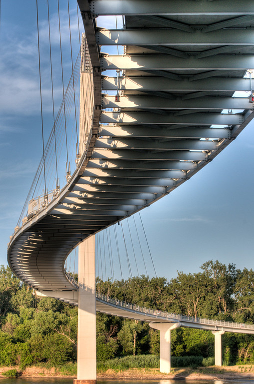 Curvy Bridge - Pedestrian bridge in Omaha