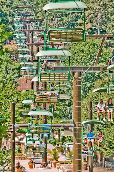 Skyfari chairlift ride at the Henry Doorly Zoo in Omaha